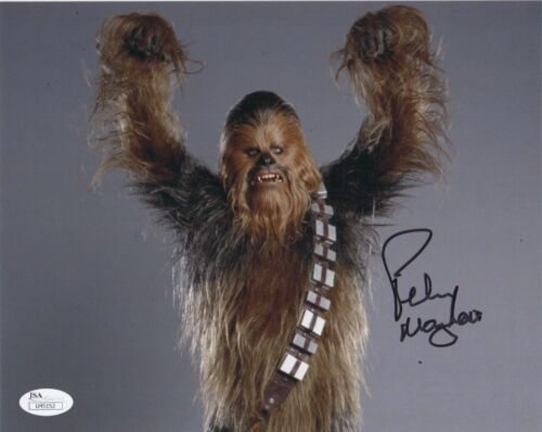 Peter Mayhew Star Wars Autographed Signed 8x10 Photo JSA COA #M2