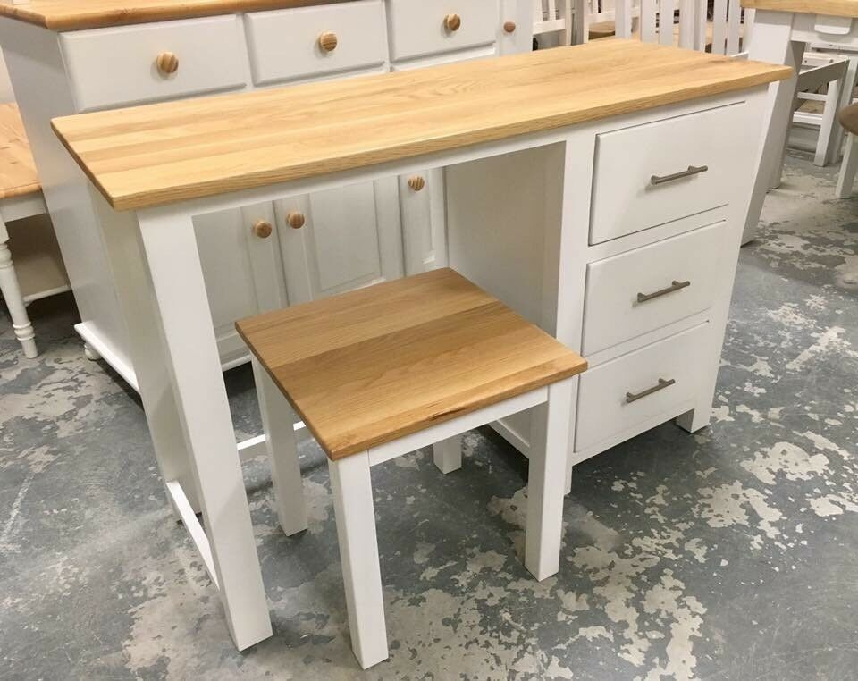 Solid Oak Dressing Table & Stool ***£199***