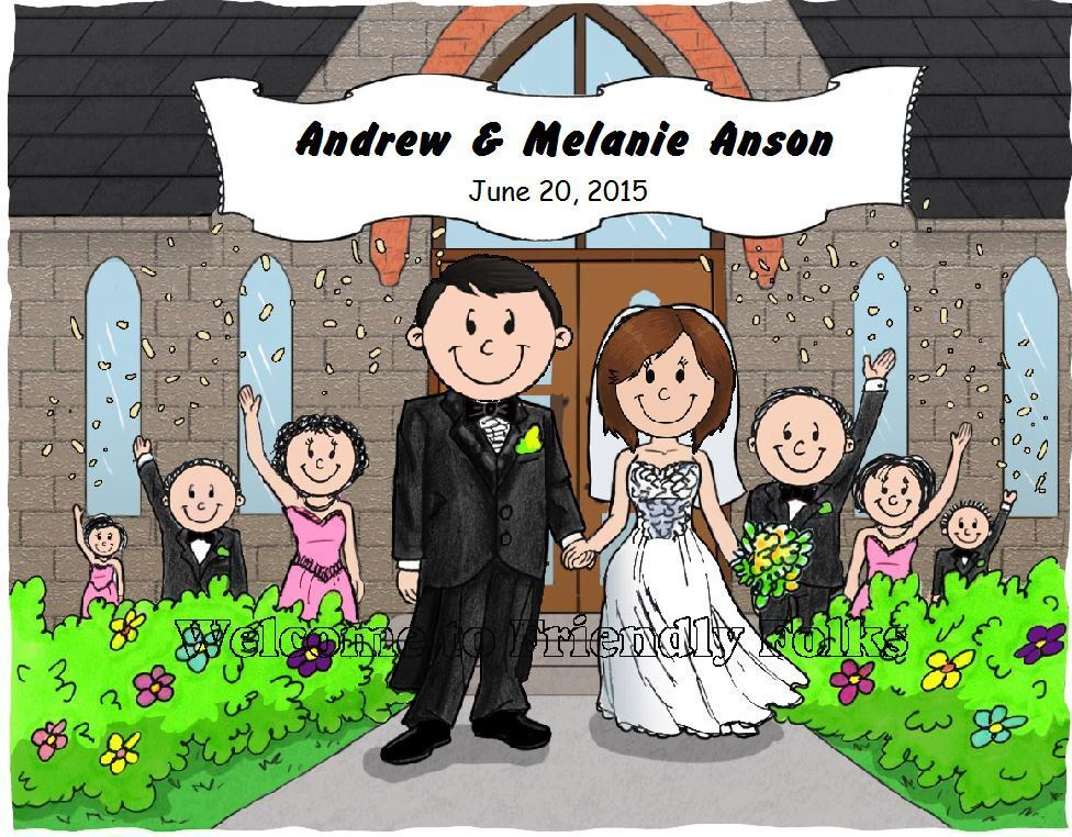 Small Personalized Wedding Picture - Makes A Great Gift  - $8.50