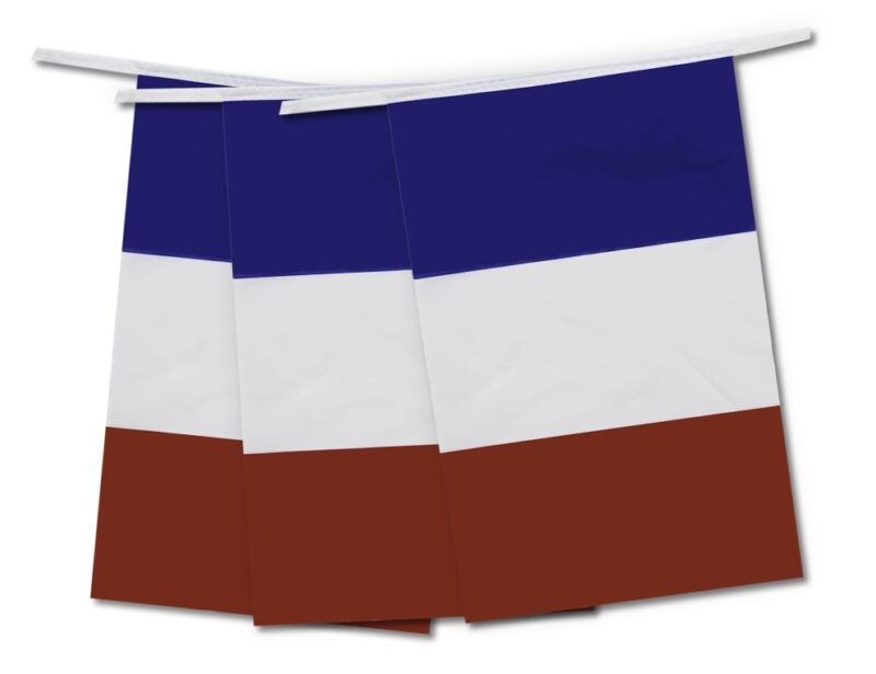 Bunting France French 20 Flags 10M Long Rugby Six Nations International