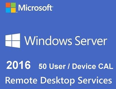 Series Products Stock (50 User CALs - Remote Desktop Services (RDS) for Server 2016)