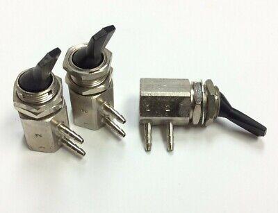 Lot Of 3 Adi 02 17 03 Miniature 2-way Pneumatic Manual Toggle Flow Control Valve