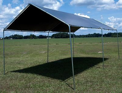 Deluxe Heavy Duty Frame (10 x 20 ft. Deluxe All Purpose Canopy Carport, Metal Frame, with Gray Heavy)
