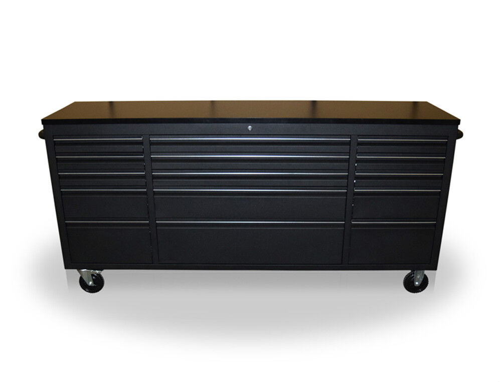 Us Pro Tools Tool Cabinet Chest Box Black Bench 72 Quot Heavy