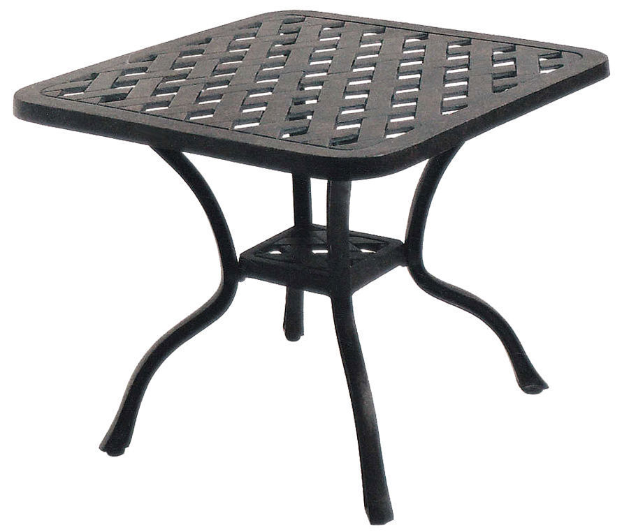 Outdoor end table 21 small square cast aluminum patio furnit