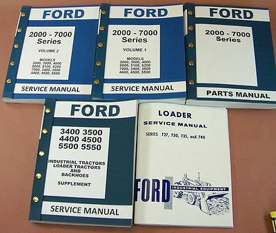 Ford 3400 3500 4400 4500 Industrial Tractor Loader Service Repair Part Manuals