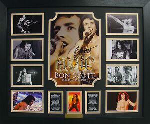 ACDC Bon Scott Limited Edition Signed Framed Memorabilia (b)
