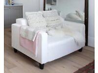 White Ikea Sofa- great condition