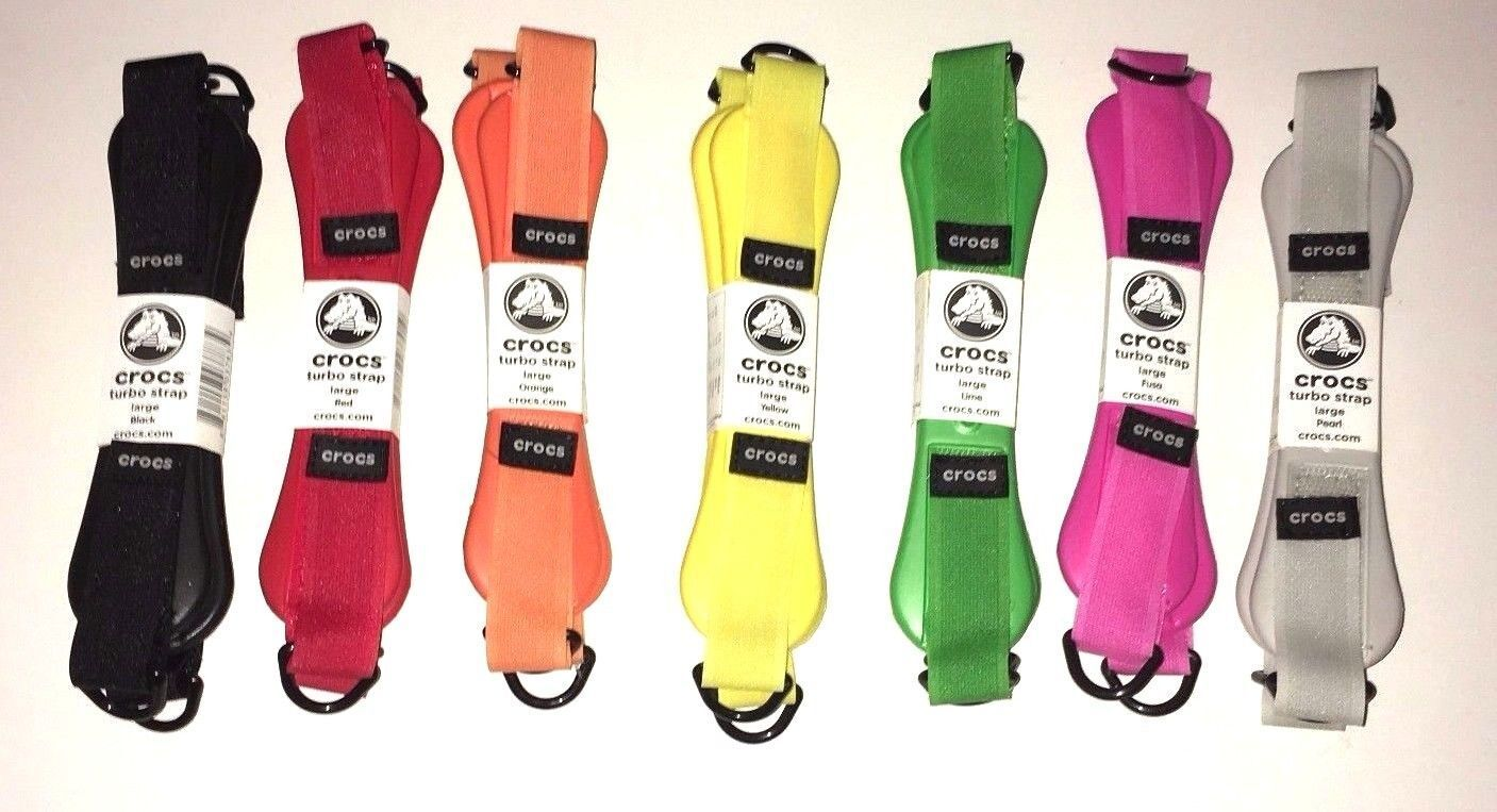 7 Pairs of Crocs Turbo Straps Replacement Straps