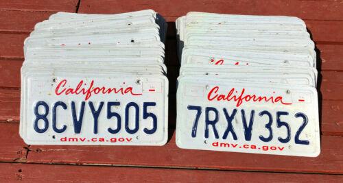 100 California License Plates - Craft/Road Kill Condition