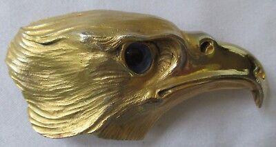 CHRISTOPHER ROSS FIERCE FALCON BELT BUCKLE IN 24K GOLD