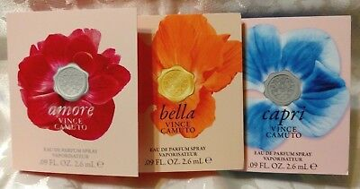 Amore Bella Capri Vince Camuto EDP Spray Samples 1 OF EACH  3 TOTAL IN SET  GIFT