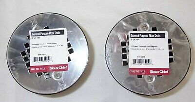Sioux Chief General Purpose Abs Floor Drain 3 X 4 Silver 2 Pack