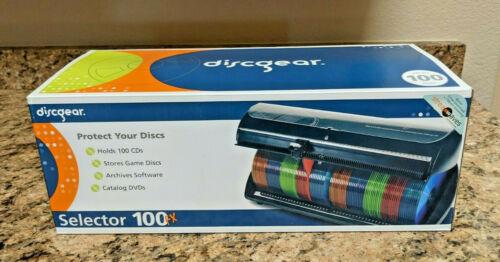 NEW Discgear Selector 100 FX CD DVD Disc Game Organizer 100 Storage Blck + Bonus