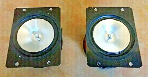 Jordan 50mm Raw Speakers Drivers With Mounting Plate Pair (2) Vintage