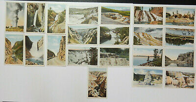 21-Yellowstone National Park-Assorted Views-Haynes-Antique Postcards Large Lot