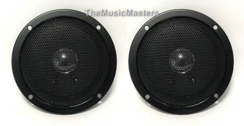 "Pair 4"" Home Speaker Cabinet Enclosure MIDRANGE Replacement Speakers Metal Grill"