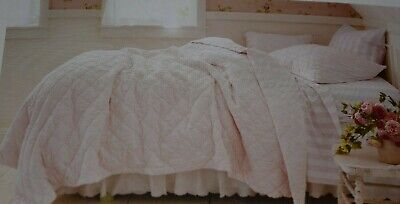 Simply Shabby Chic SOFT PINK VELVET Twin Quilt /Sham/Sheet S