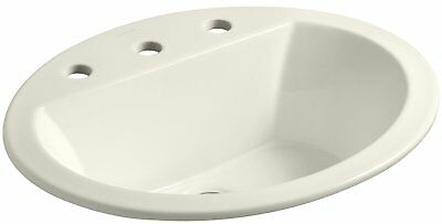 KOHLER K-2699-8-96 Bryant Oval Self-Rimming Bathroom Sink with 8