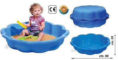piscina da giardino per bambini sabbiera GRANDE con coperchio 75 litri