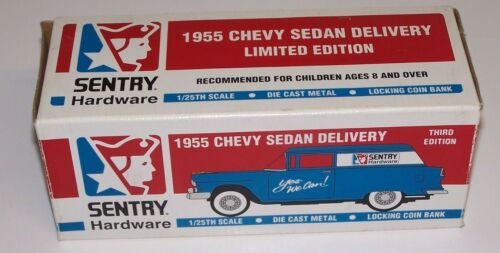 Sentry Hardware 1955 Chevy Sedan Delivery Car 1/25th Scale Die Cast Metal Bank