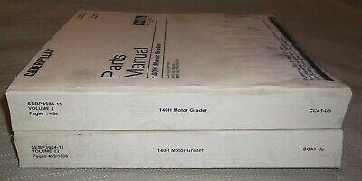 Cat Caterpillar 140h Motor Grader Parts Manual Book Set Sn Cca00001-up Sebp3684