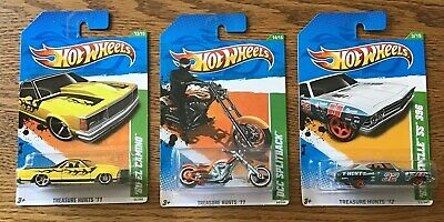 HOT WHEELS Treasure Hunt's(Lot of 3)2011OCC Splitback,El Camino & 2012 Chevelle