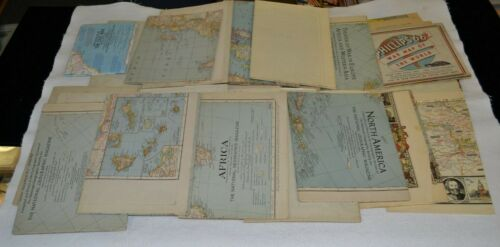 National Geographic Map Lot 1930s - 1960s World War II Europe Asia USA 27 Maps