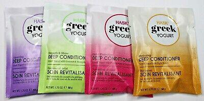 4 Pack of Hask Greek Yogurt 1.75 Oz Deep Conditioner Hydrating Repairing Smooth