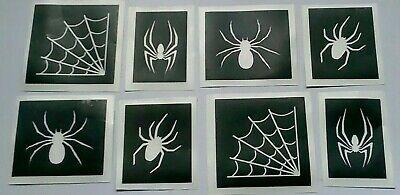 Gothic Tattoos (10 - 400 spider stencils for glitter tattoos gothic   Halloween  mixed)