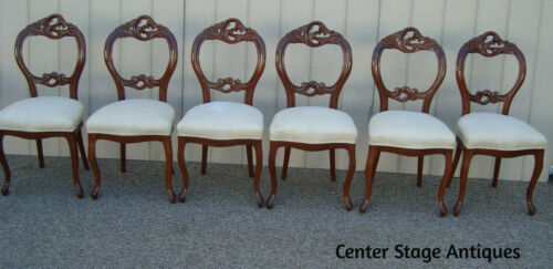 59184  Set 6 Victorian Style Mahogany Dining Chairs