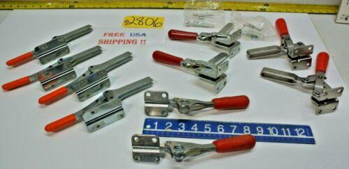 10 pcs. Welding Clamps 4) DeStaco 210-S, 2) 344 & 4) Knu-Vise H-600 Machine Tool