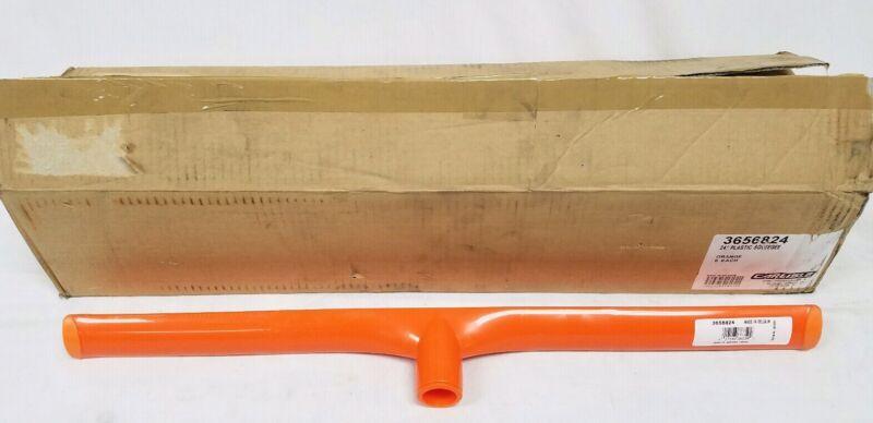 "Lot of 6 Carlisle 24"" Plastic Squeegees Single Rubber Blade Orange 3656824"