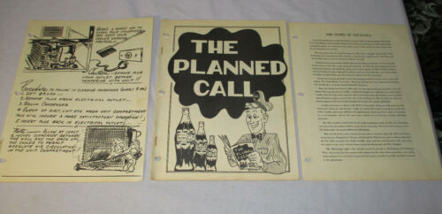 RARE 1957 Employee Delivery Handbook THE PLANNED CALL Story of Coca-Cola  # 1553