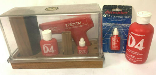 DISCWASHER Record Care System D4 Set, Original Case, Zerostat, SC-2, D4, Extras