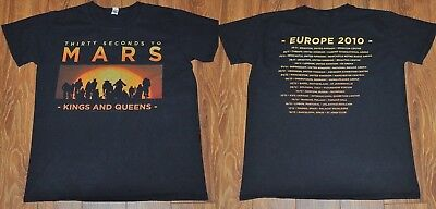 30 SECONDS TO MARS - Kings And Queens EUROPE 2010 Tour T-SHIRT - Bust 36