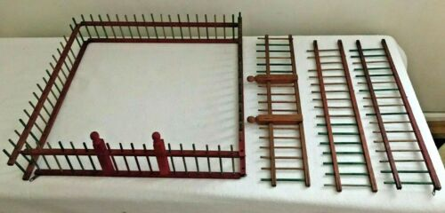 TRAIN PLATFORM WOODEN FENCE 7 PIECES, G SCALE, USED