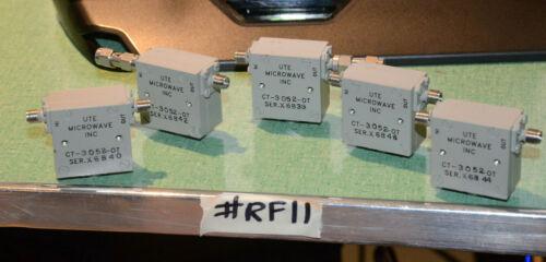 (5) UTE MICROWAVE CT-3052-OT ISOLATOR 3.4GHZ RF11