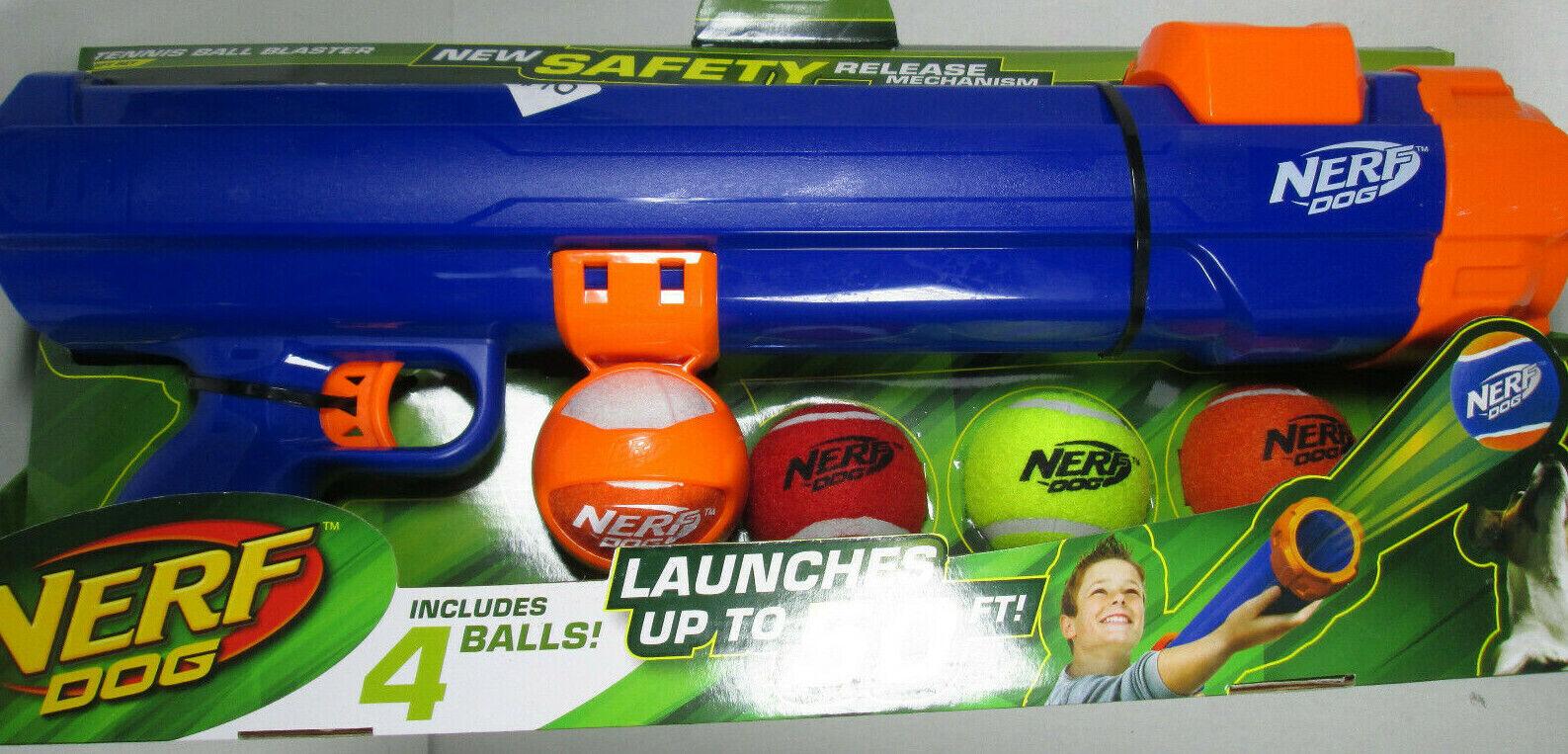 Nerf Dog Tennis Ball Gun Launcher Blaster Skyrocket 50 Feet