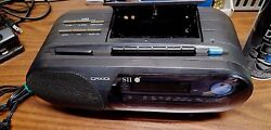 CRX101 AM/FM 2 Band Clock Radio Cassette Recorder~Cleaned & Checked~As Is~DEAL!