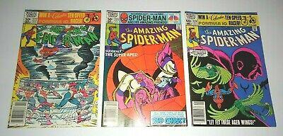 Lot X3 The Amazing Spider-Man #222 223 224 Marvel Comic 1981 1st app Speed Demon