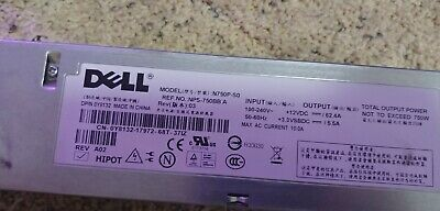 Dell Server Power Supply,   Model: N750P SO -- P/N: DY8132,  12V 62 Amps