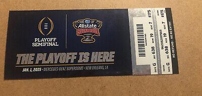 2015 Sugar Bowl Ohio State Buckeyes vs Alabama Crimson Tide Ticket stub (Ohio State Buckeyes Vs Alabama Crimson Tide)