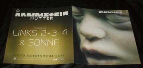 RAMMSTEIN Mutter RARE IN STORE PROMO DOUBLE POSTER FLAT 12X24  2001 ALBUM