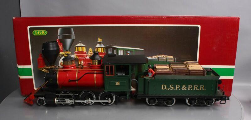 LGB 2018D #18 DSP&PRR 2-6-0 Mogul Steam Locomotive & Tender/Box