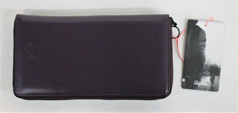 RAPHA Purple Calf Skin Leather Zip Document Case Transfer Wallet RRP80 NEW