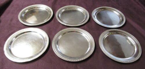HIGHLAND HOTEL 6 Silverplate Bread Plates Reed & Barton 1940s Elegant Unusual