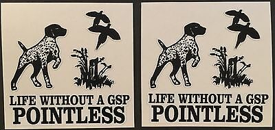 German Shorthair Pointer GSP Window Decal Sticker SMALL X 2