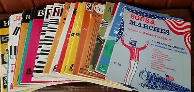 Blues Classical Sheet Music (NOS Lot Of Classical Ragtime Blues Modern Piano Sheet Music & Books from 1960's )