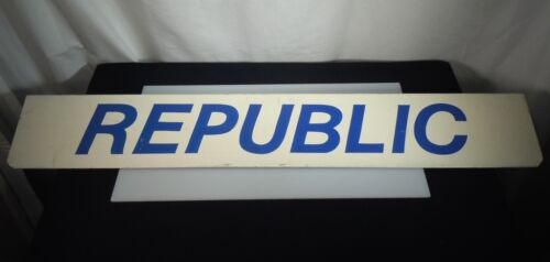 Vintage Republic Airlines Metal Sign      -  54465
